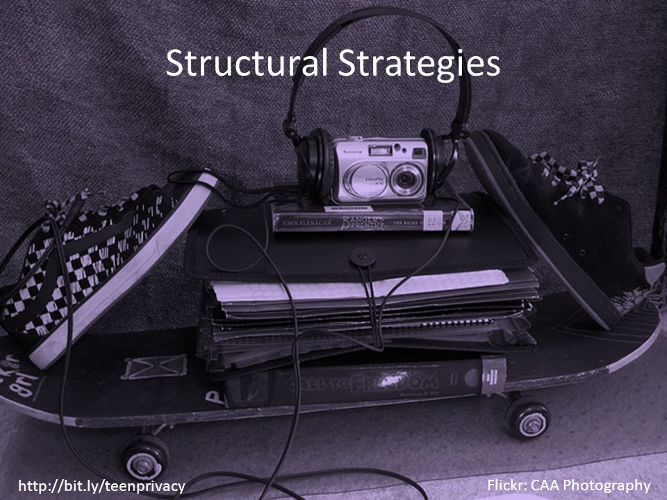 Structural Strategies http://bit.ly/teenprivacy Flickr: CAA Photography