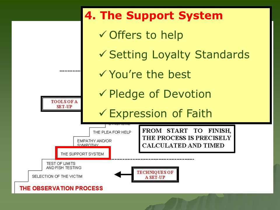 4. The Support System Offers to help Setting Loyalty Standards You're the best Pledge of Devotion Expression of Faith