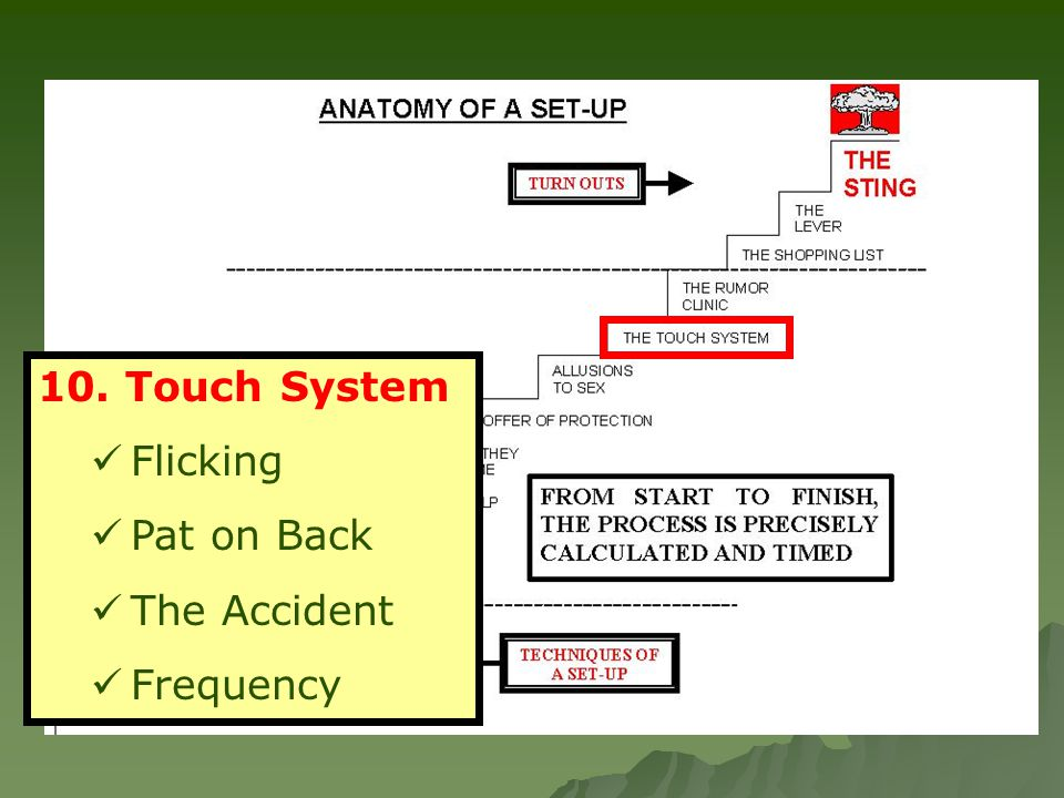 10. Touch System Flicking Pat on Back The Accident Frequency