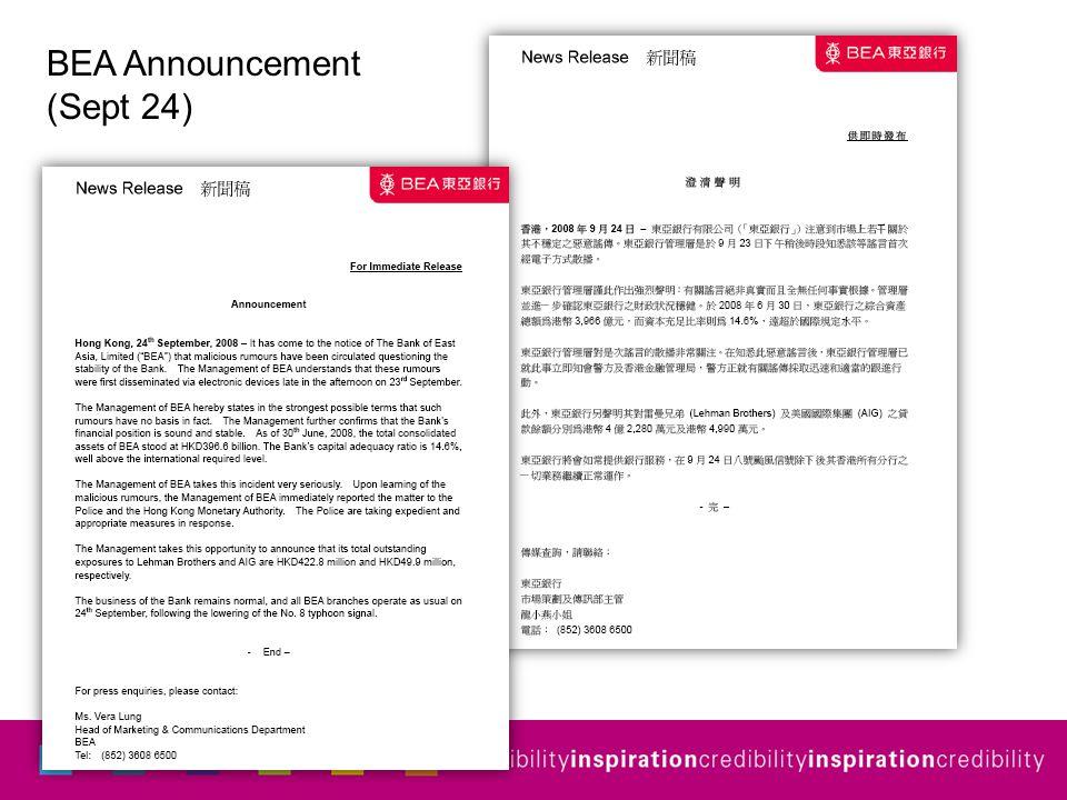 BEA Announcement (Sept 24)