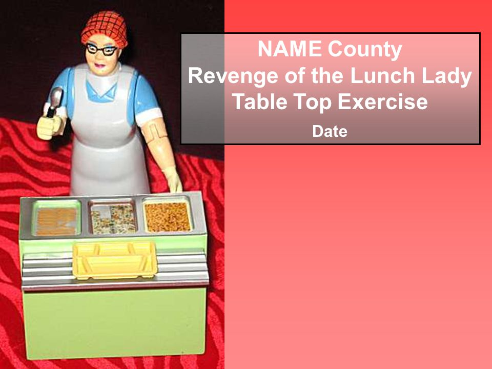 NAME County Revenge of the Lunch Lady Table Top Exercise Date