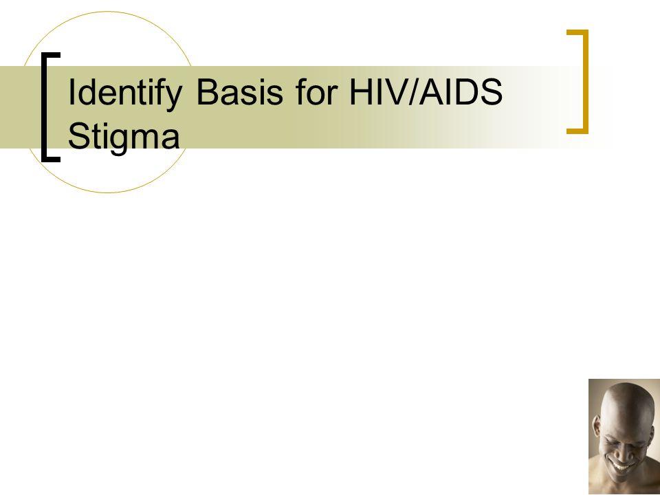 Identify Basis for HIV/AIDS Stigma