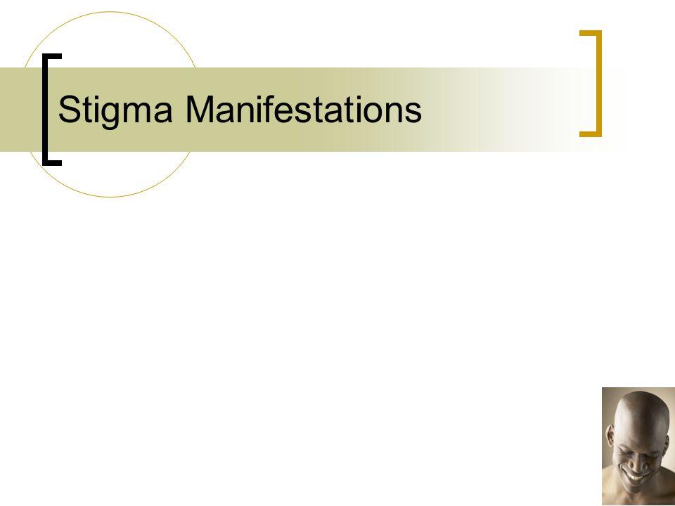 Stigma Manifestations