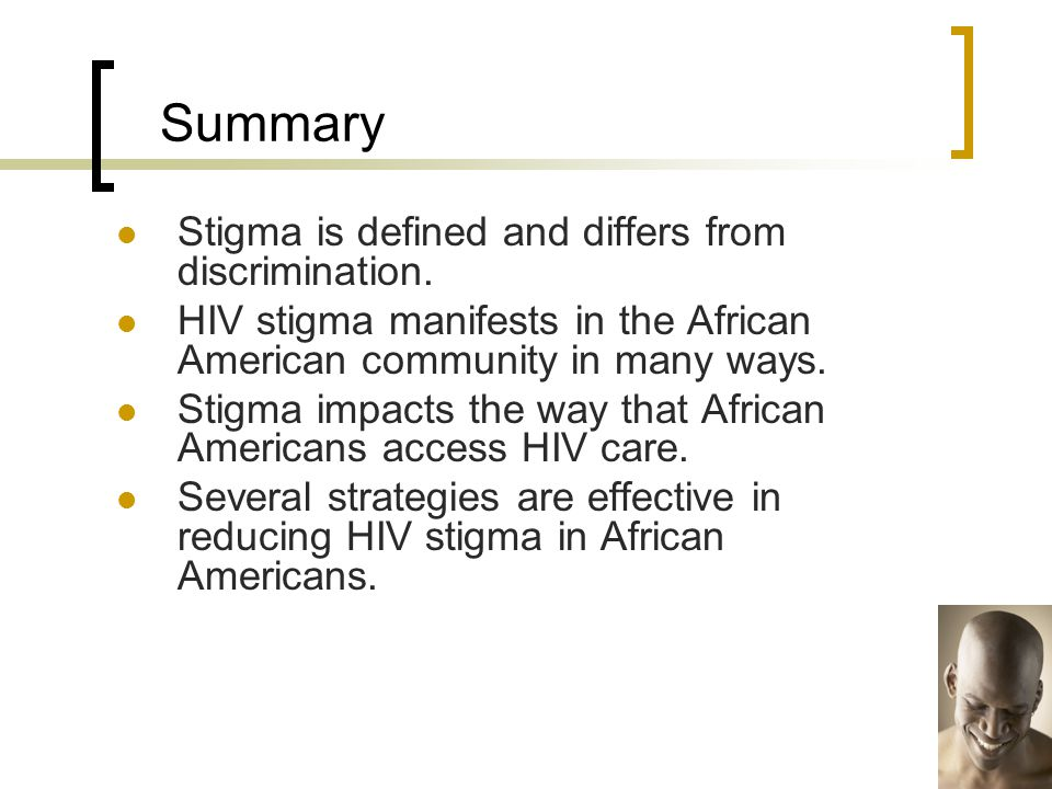 Summary Stigma is defined and differs from discrimination.