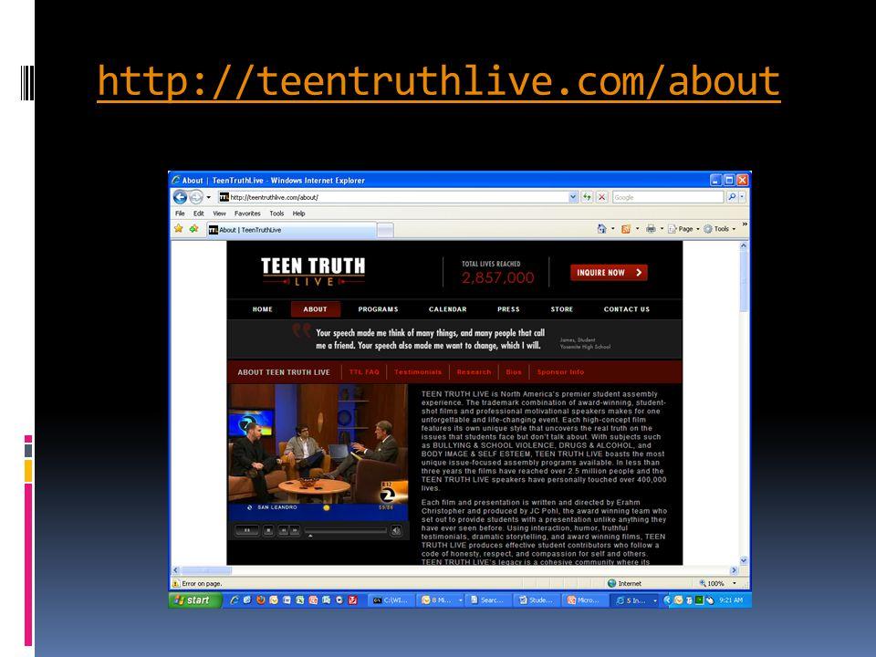 http://teentruthlive.com/about