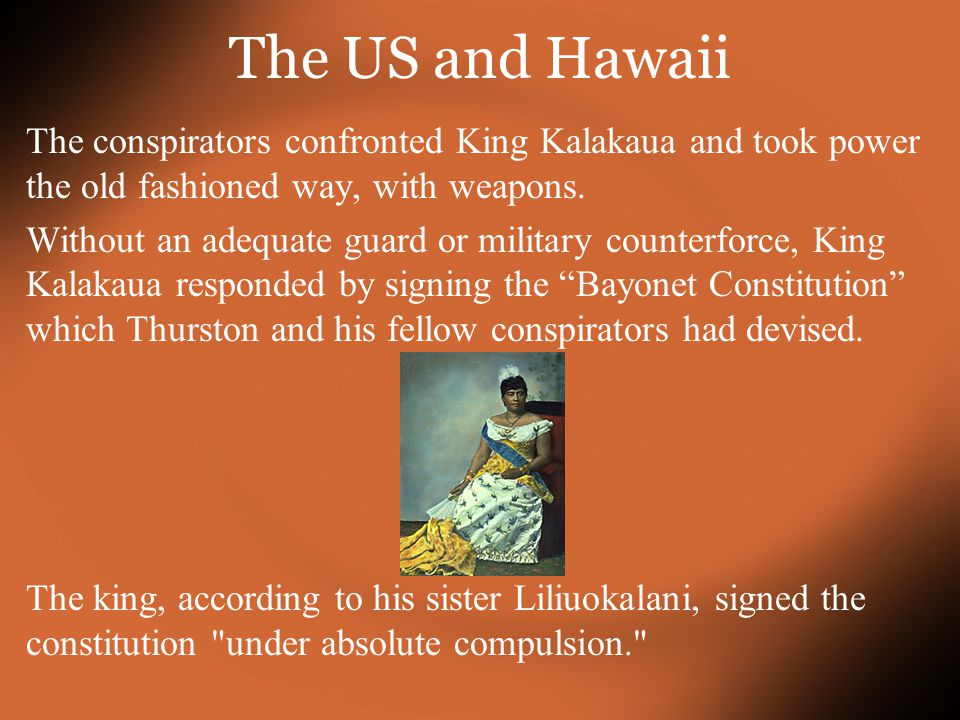 The US and Hawaii Well-established U.S.