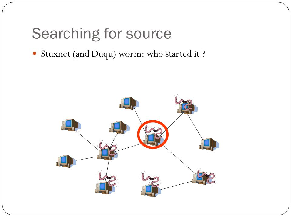 Stuxnet (and Duqu) worm: who started it ? Searching for source