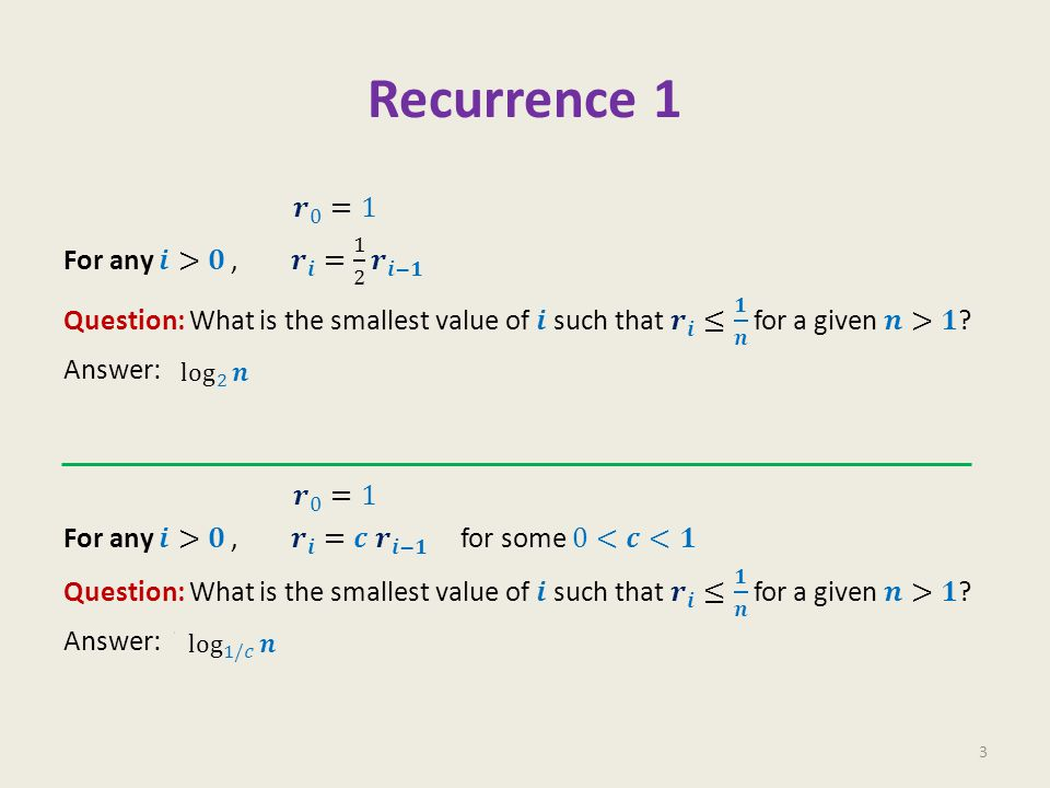Recurrence 2 4