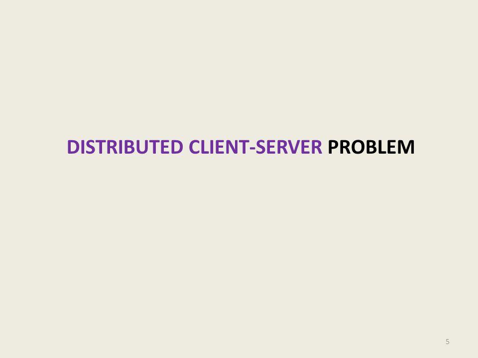 DISTRIBUTED CLIENT-SERVER PROBLEM 5