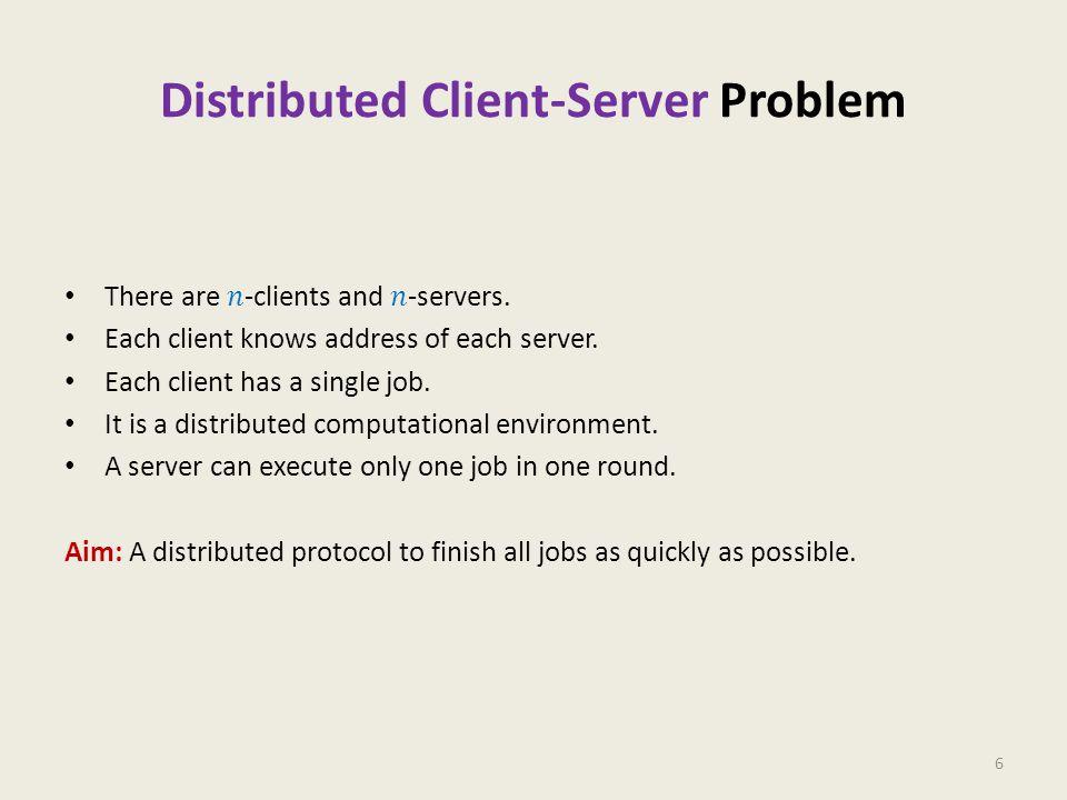 Distributed Client-Server Problem 6