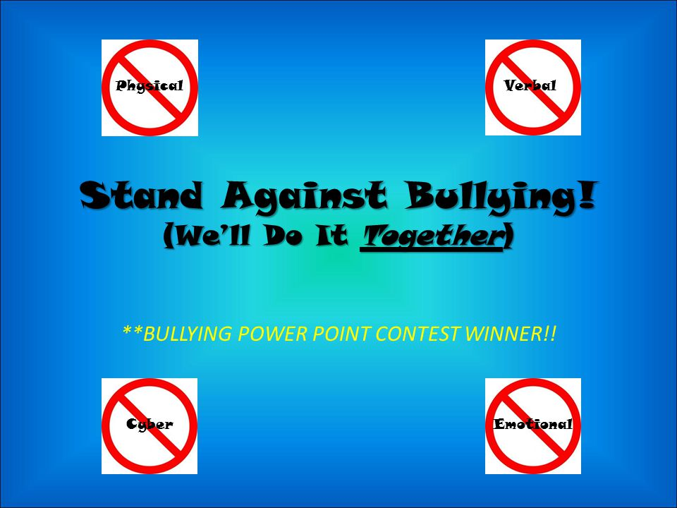 Stand Against Bullying.