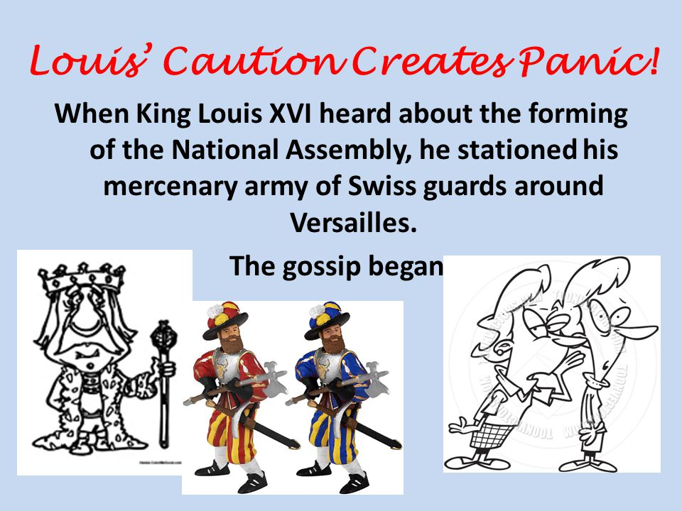 Louis' Caution Creates Panic.