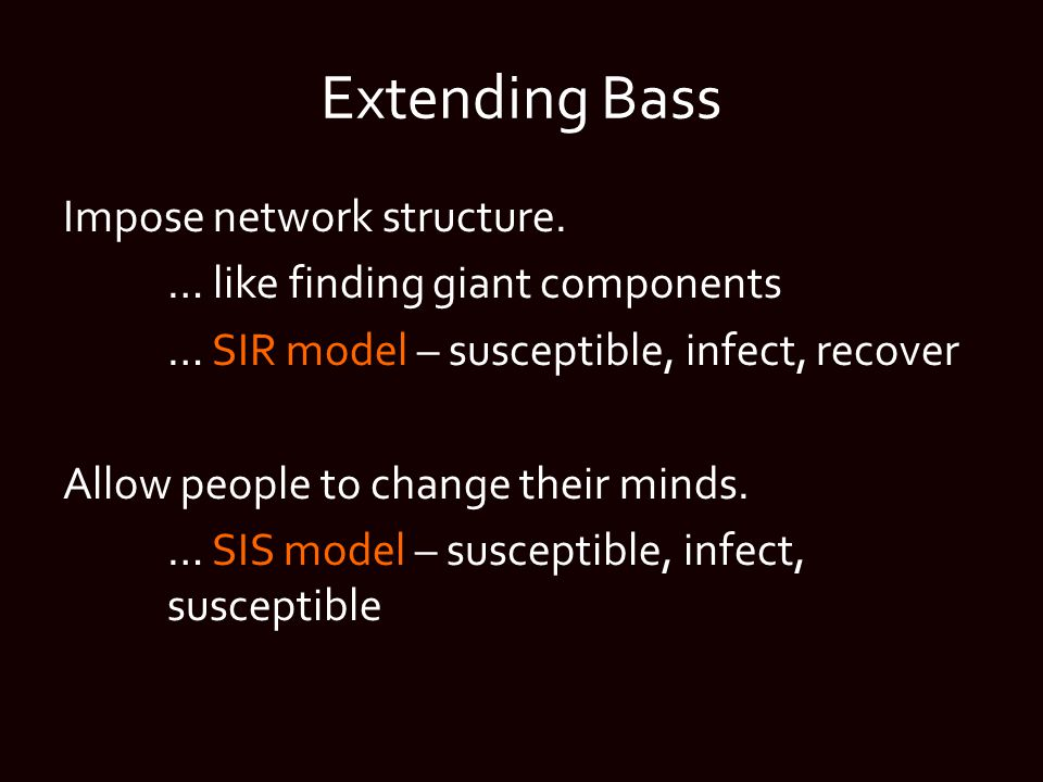 Extending Bass Impose network structure.