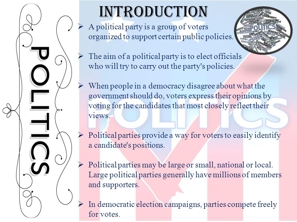  Political parties as we know them did not begin to develop until the late 1600 s.