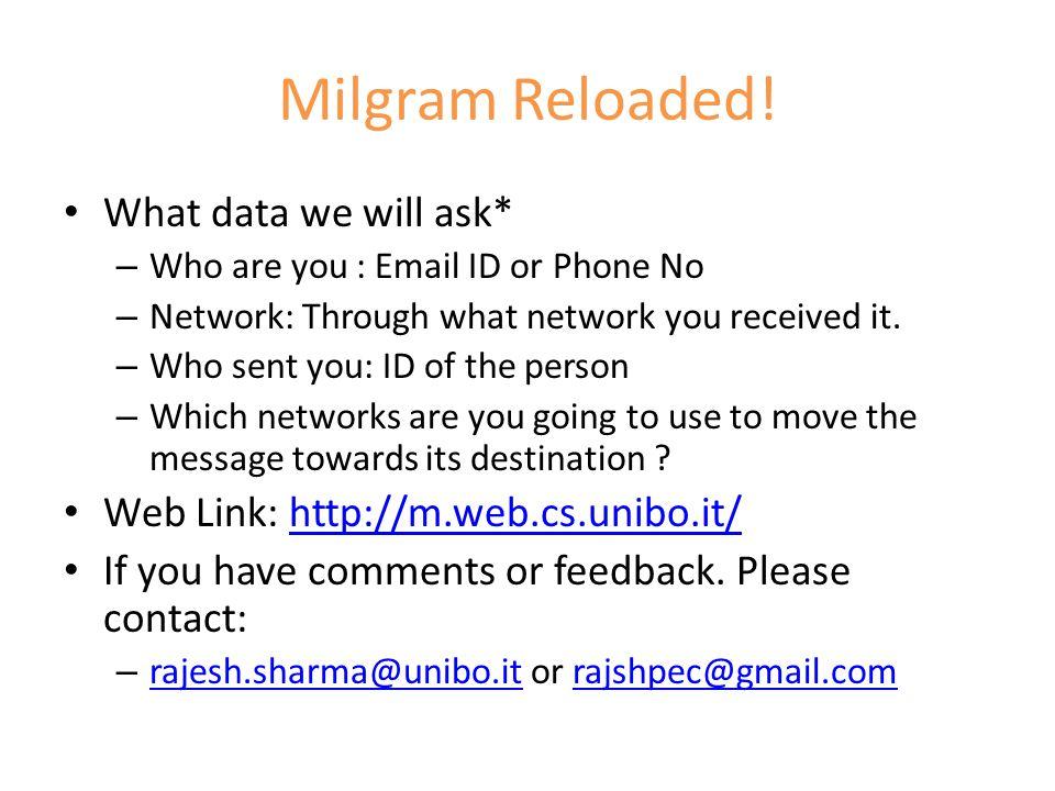 Milgram Reloaded.