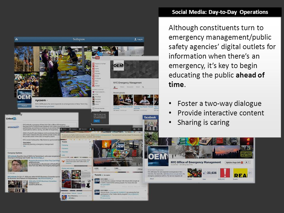Although constituents turn to emergency management/public safety agencies' digital outlets for information when there's an emergency, it's key to begin educating the public ahead of time.