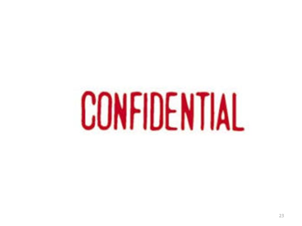 Confidentiality 23