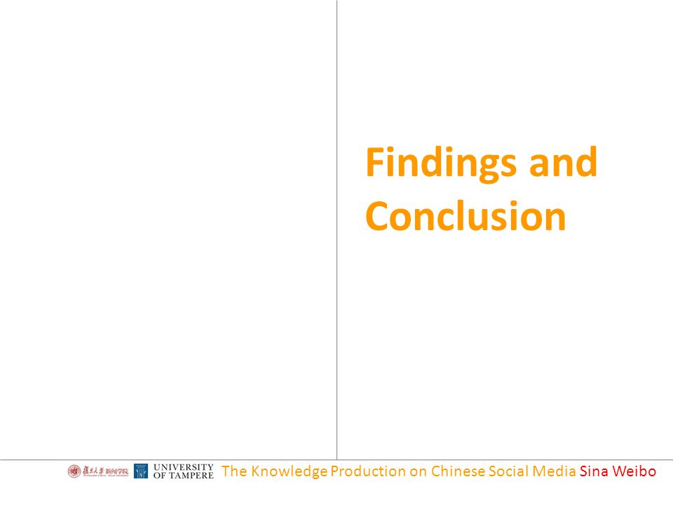 The Knowledge Production on Chinese Social Media Sina Weibo Findings and Conclusion