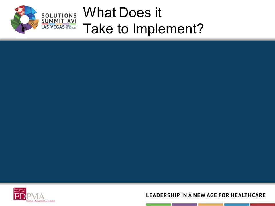 What Does it Take to Implement?