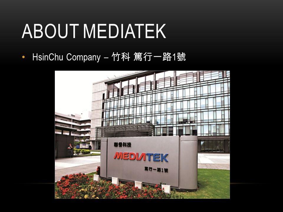 ABOUT MEDIATEK HsinChu Company – 竹科 篤行一路 1 號