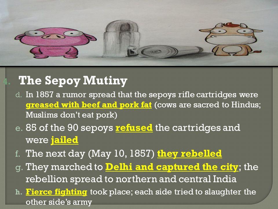 4.The Sepoy Mutiny d.