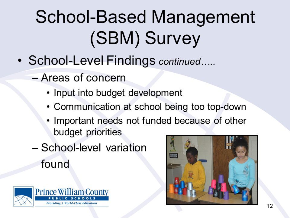 School-Based Management (SBM) Survey School-Level Findings continued…..