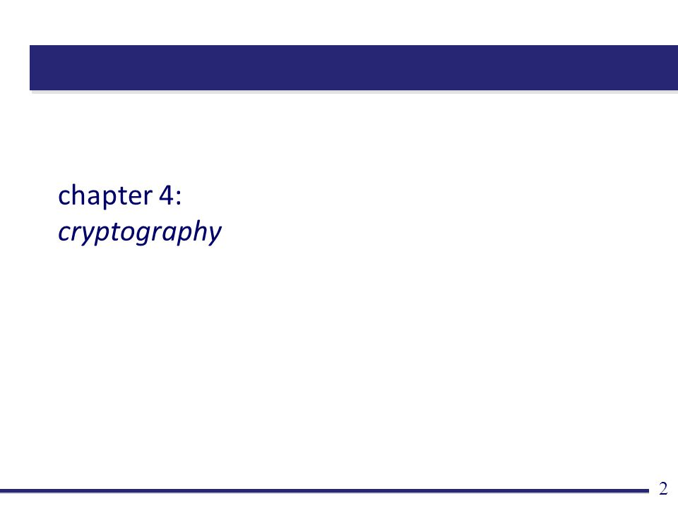 chapter 4: cryptography 2