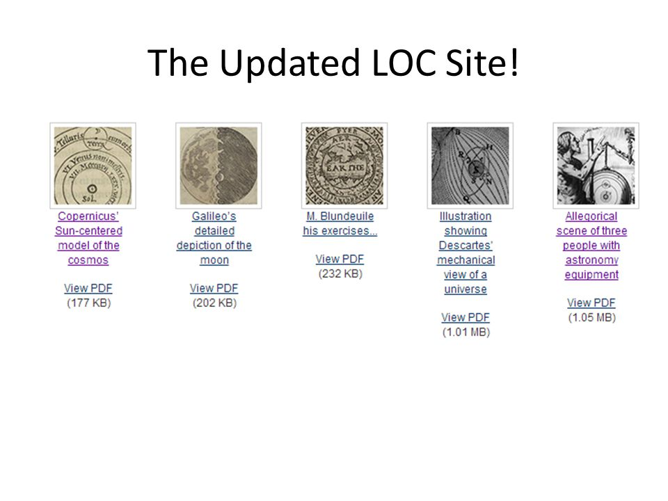 The Updated LOC Site!