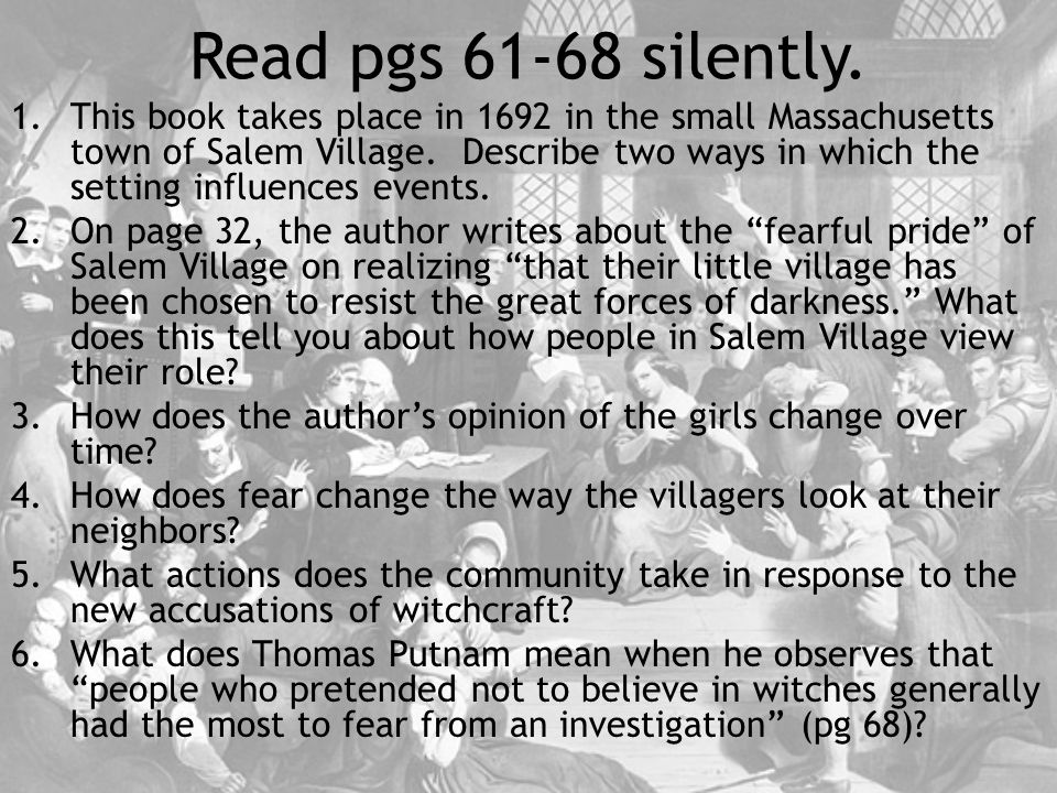 Read pgs 61-68 silently.