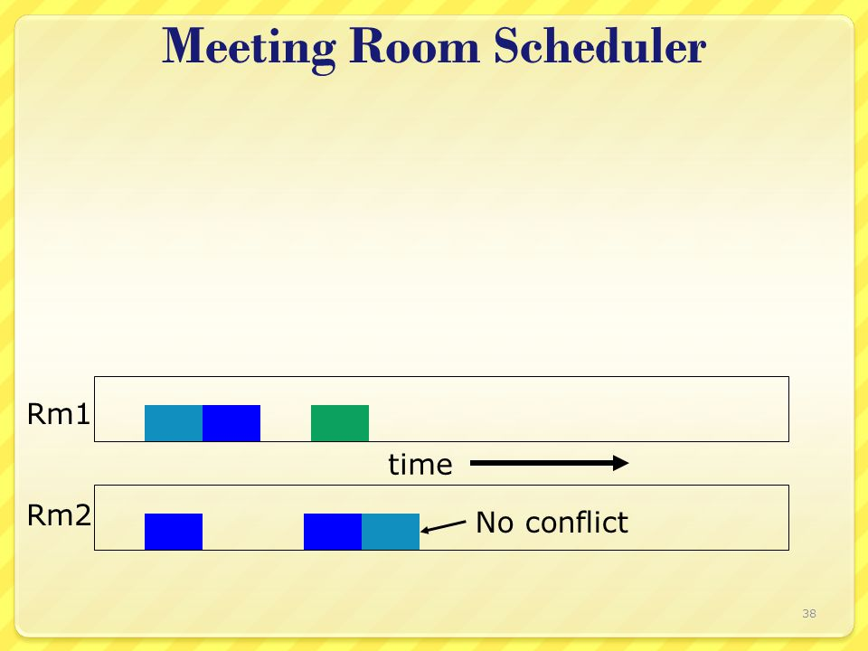 Meeting Room Scheduler Rm2 Rm1 time No conflict 38