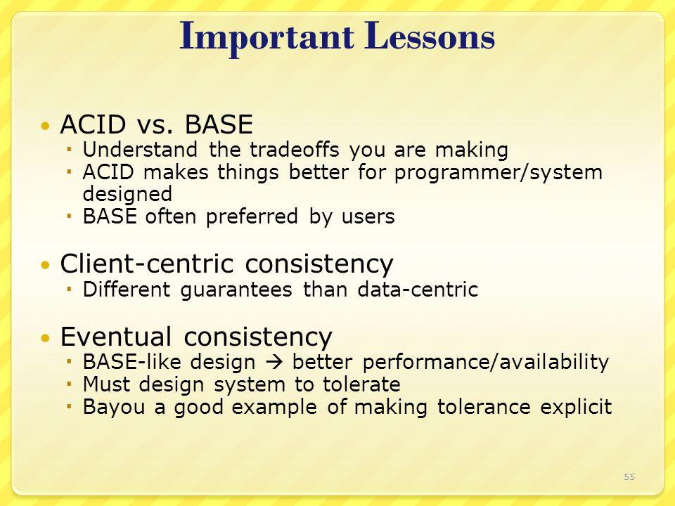 Important Lessons ACID vs.