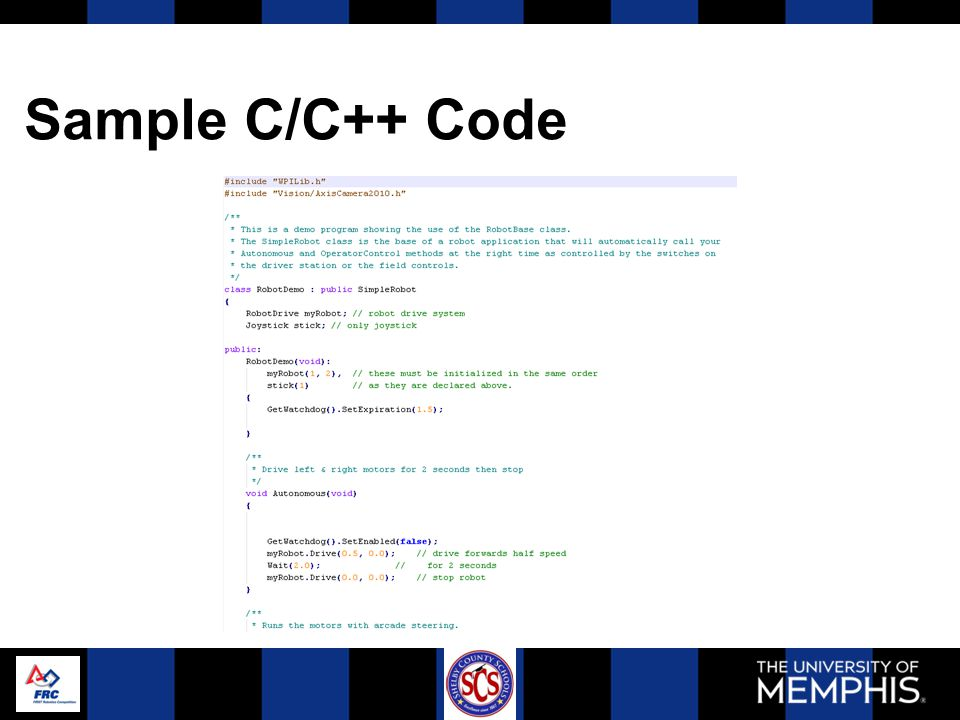Sample C/C++ Code