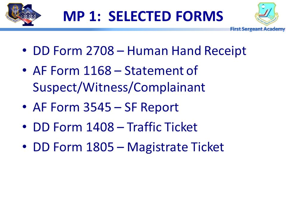 OVERVIEW  Selected Forms  Driving Privileges  Traffic Point System  Commander's Action