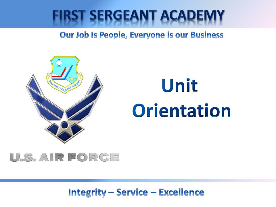 AFRC Table of Content Unit Orientation AFRC Unit Participation Administrative Actions Control Roster The First Sergeant Position Enlisted Promotion Ad