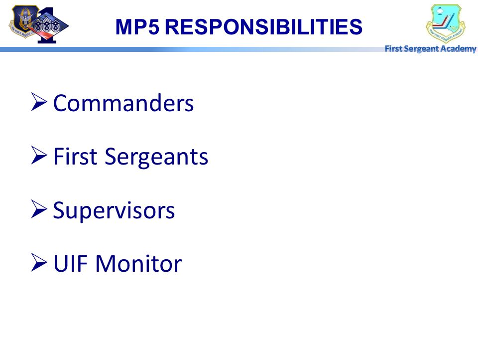 MP4 CONTROL ROSTER IMPACT  EPR  Promotion  Reenlistment  PCS/PCA  Formal Training