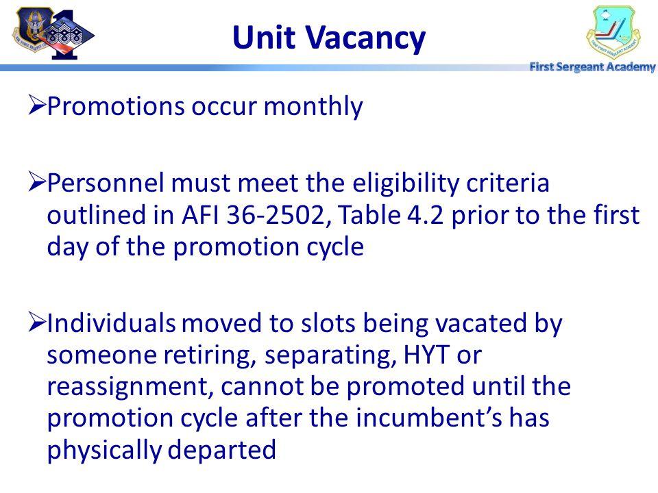 MP5: Types of Promotions Unit Vacancy Promotion Extended Promotion Program (EPP) Promotion Enhancement Program (PEP)