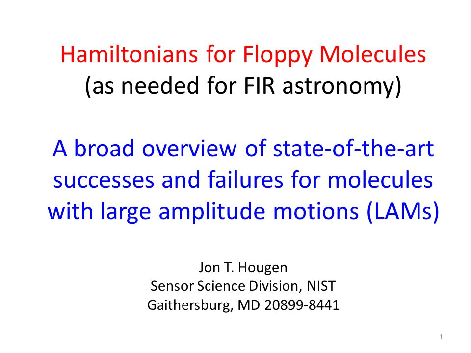 What can experiment and Hamiltonians for floppy molecules easily provide, that FIR astronomers might want.