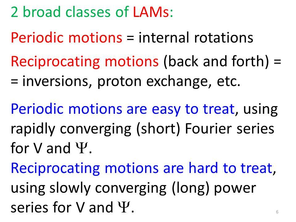 3 broad classes of molecules: 1.