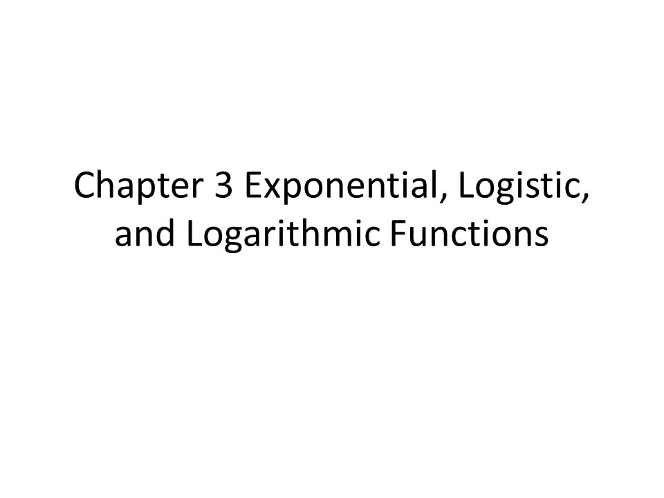 Slide 3- 72 What you'll learn about Properties of Logarithms Change of Base Graphs of Logarithmic Functions with Base b Re-expressing Data … and why The applications of logarithms are based on their many special properties, so learn them well.