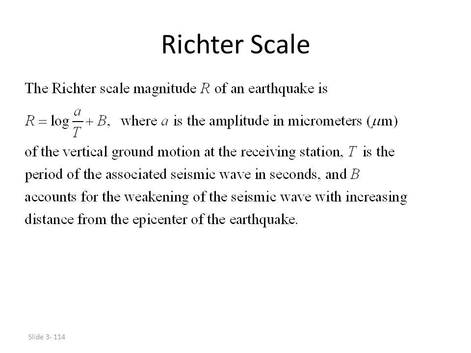 Slide 3- 114 Richter Scale