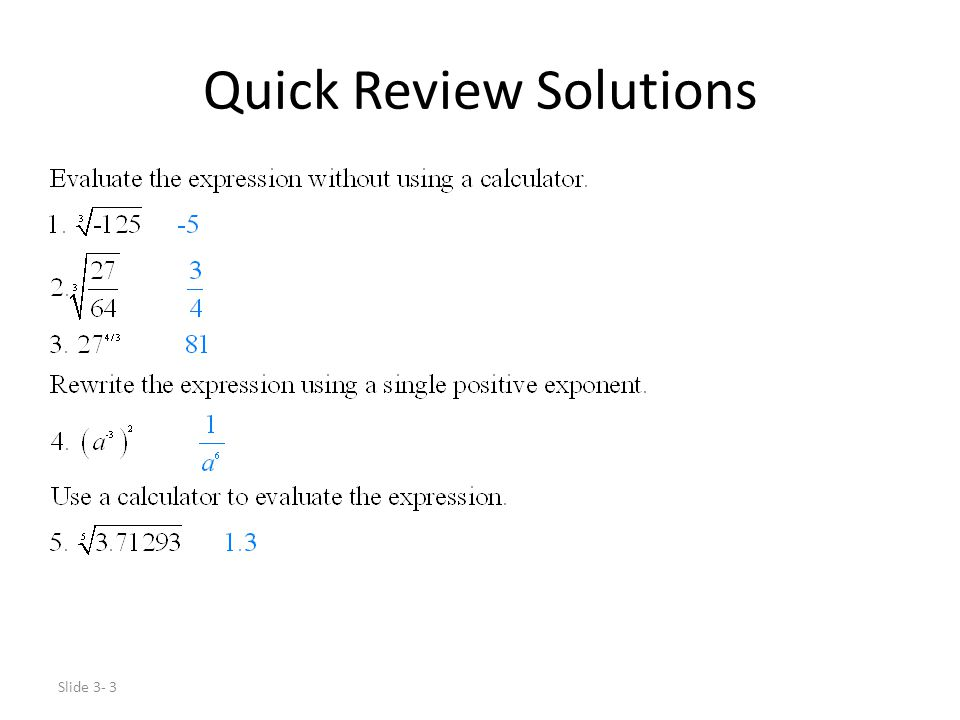 Slide 3- 4 Exponential Functions