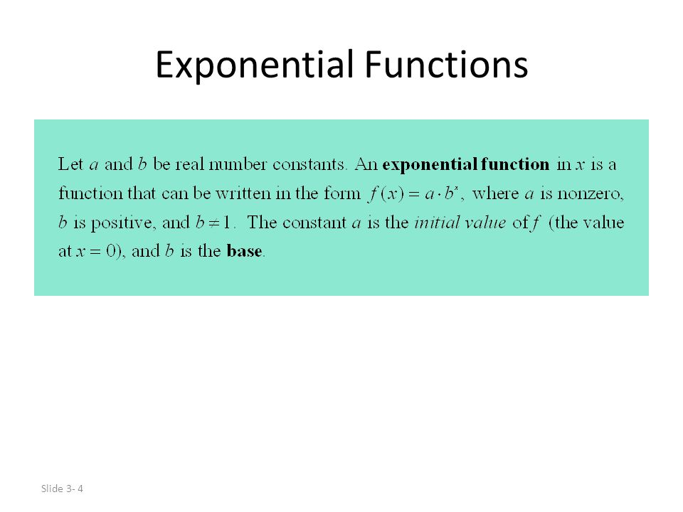 Determine if they are exponential functions