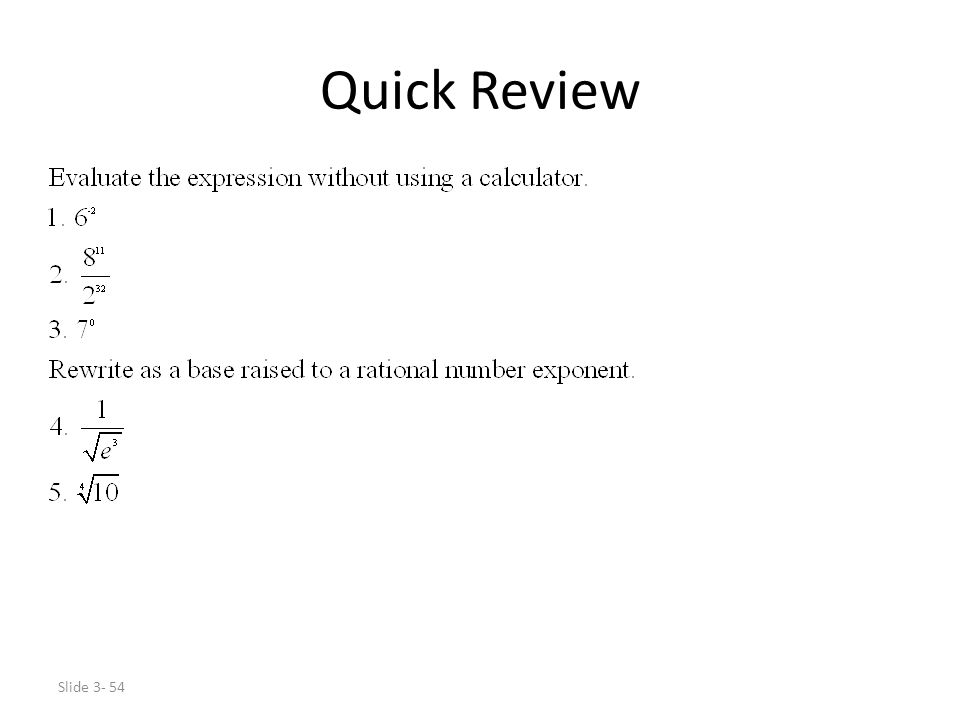 Slide 3- 54 Quick Review