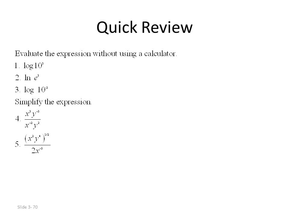 Slide 3- 70 Quick Review