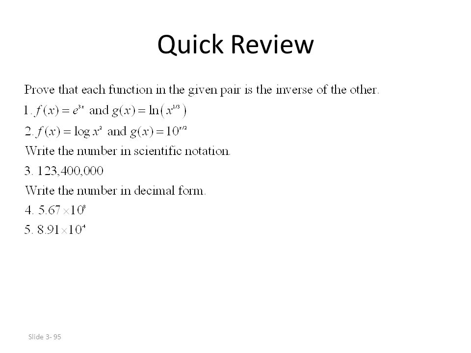 Slide 3- 95 Quick Review