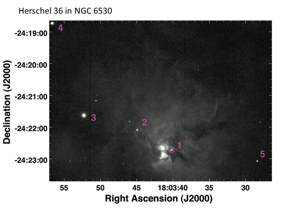 Herschel 36 in NGC 6530