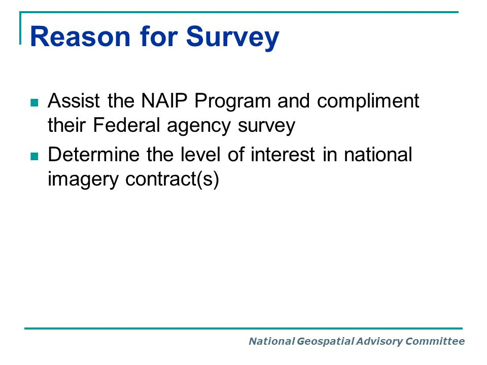 National Geospatial Advisory Committee States Responding 2011 Imagery Needs Survey September 25, 2011 DCDC VI PRPR Very Significant Local Government Participation
