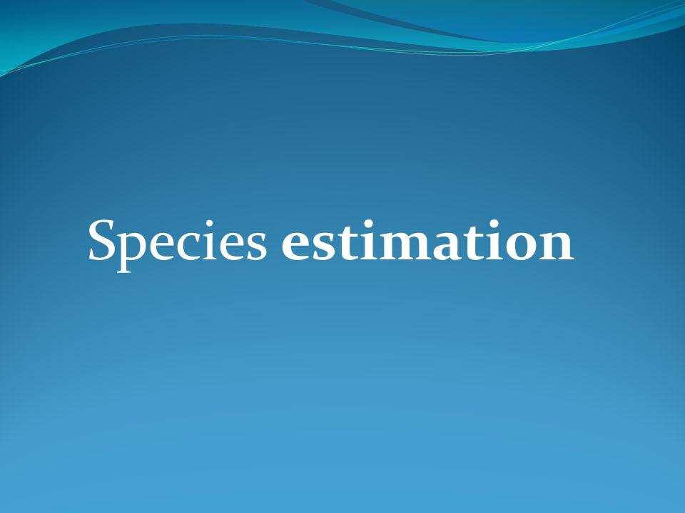 Species estimation