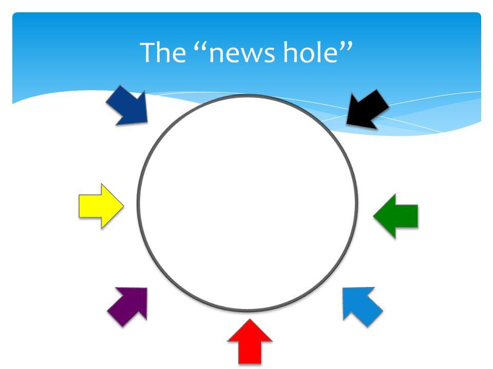 The news hole