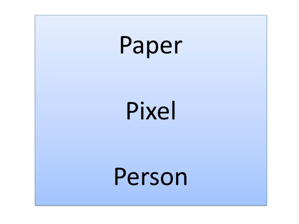 Paper Pixel Person